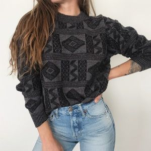 [Vintage] cozy retro crewneck sweater